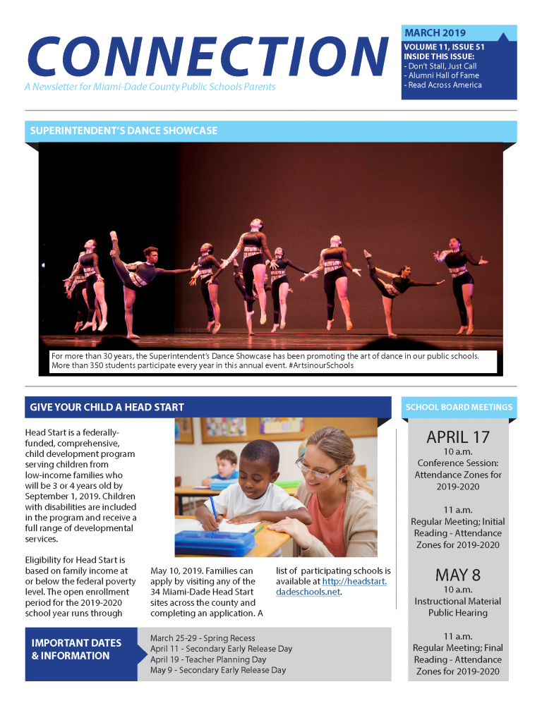 March 2019 Connection Parent Newsletter English
